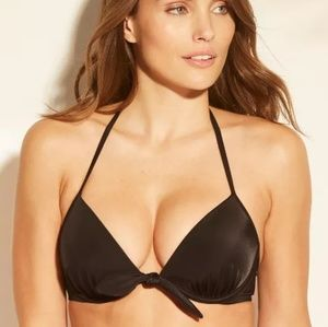 Shade & Shore black tie front bikini top, 32B, 34B